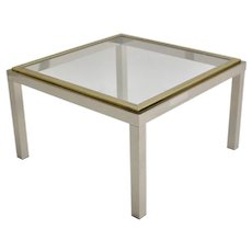 Mid Century Modern Coffee Table by Willy  Rizzo attr. circa 1970 Italy