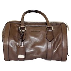 Jil Sander Brown Leather Handle Bag