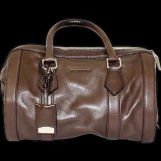 Jil Sander Brown Leather Handle Bag