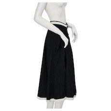 Jean Louis Scherrer boutique Vintage Skirt Black and White 1980s