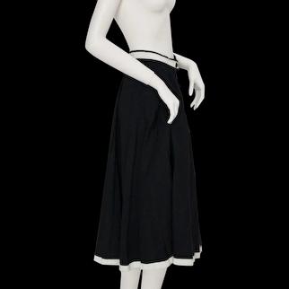 Jean Louis Scherrer boutique Vintage Skirt Black and White 1980s