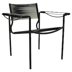 Black Spaghetti Armchair by Giandomenico Belotti for Alias italy 1980s