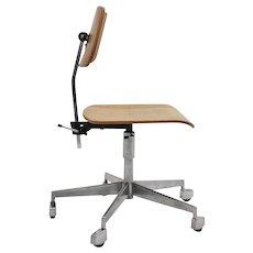 Mid Century Modern Swiveling Desk Chair by Jorgen Rasmussen 1950s Denmark