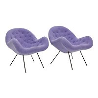 Mid Century Modern Lilac Armchairs by Fritz Neth attributed 1950s Germany