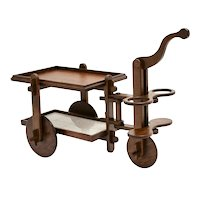 Oak Bar Cart France 1950s