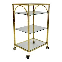 Gilded faux bamboo Bar Cart by Maison Bagues attributed France 1960s