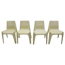 Set of four Plastic Chairs No. BA 1171 by Helmut Bätzner 1964-66 Germany