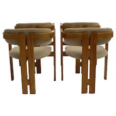 Tobia Scarpa Pigreco Mid Century Modern Set of 4 Armchairs 1957 italy