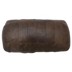 Mid Century Modern Vintage Brown leather Pillow by De Sede 1970s Switzerland