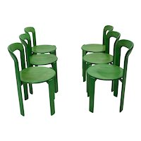 Set of 10 Dining Chairs by Bruno Rey for Dietiker 1970s Switzerland