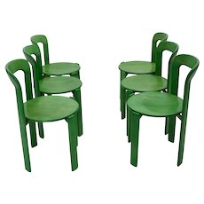 Set of 6 Dining Chairs by Bruno Rey for Dietiker 1970s Switzerland