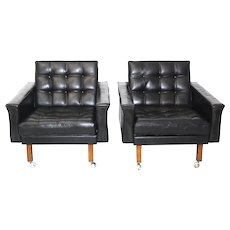 A pair of Leather Armchairs by Johanns Spalt circa 1959 Austria