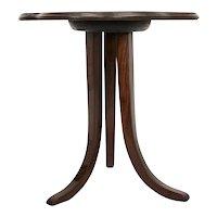 Josef frank Art Deco Walnut Trilegged Coffee Table Vienna circa 1925