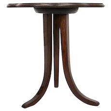 Josef frank Art Deco Walnut Trilegged Coffee Table Vienna circa 1925