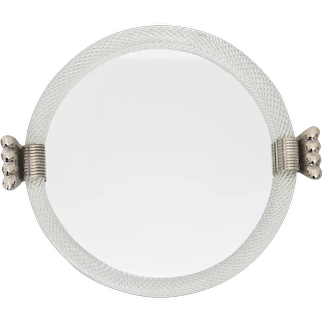 Modernist Vintage Glass Mirror Tray attributed to Barovier & Toso, Italy