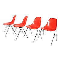 4 pieces of Eames DSS-N Side and Stacking Chairs by Ray & Charles Eames, 1950s