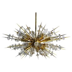 """Miracoloso"" Bakalowits gold-plated Sputnik Chandelier 1972, Vienna"