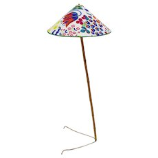 J. T. Kalmar Claw Foot Bamboo Floor Lamp 1950s Vienna, Austria