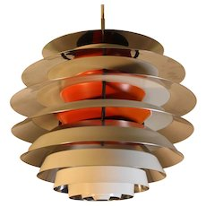 "Danish Mid Century Modern Ceiling Lamp ""Contrast"" by Poul Henningsen 1958"