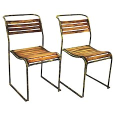 Austrian Art Deco Pair of Stacking Chair RP6 by Bruno Pollak 1931