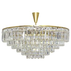 20th Century Austrian BAKALOWITS Crystal Glass Chandelier 1960s