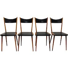 20th Century Austrian Set of 4 Dining Chairs 1950s