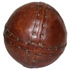 Art Deco Leather Punchball 1920s