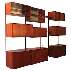 20th Century Modular Teak Wall System by Poul Cadovius, 1960´s Denmark