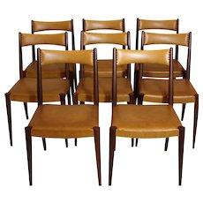 Mid Century Modern Dining Chairs by Anna-Lülja Praun Vienna 1953