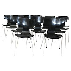 20th Century Stacking Chairs, Model No. 3103 by Arne Jacobsen, 1952