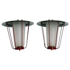 Pair of J. T. KALMAR Lanterns Vienna circa 1960