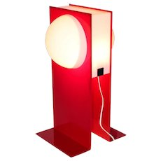 Postmodern Red Plastic Light signed HG