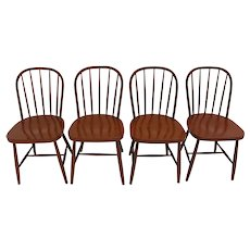 Art Deco Four Windsor Chairs by Josef Frank circa 1930 Vienna