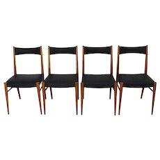 Set of Four Dining Chairs by Anna Lülja Praun Vienna 1953