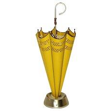 Yellow Mid Century Modern Umbrella Stand Italy 1950s