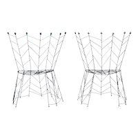 "Pair of chairs by Bohuslav Horak  ""Pupeny"" 1988"