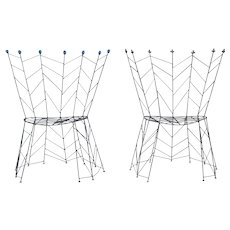 "Pair of chairs by Bohuslav Horak  ""Pupeny"" 1988"