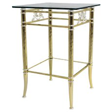 Two tiered gilded and silver plated Side Table  1970s
