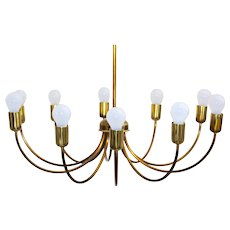 Brass Chandelier Vienna 1950s