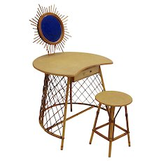 Dressing Table with Stool attr. to Jean Royere circa 1955