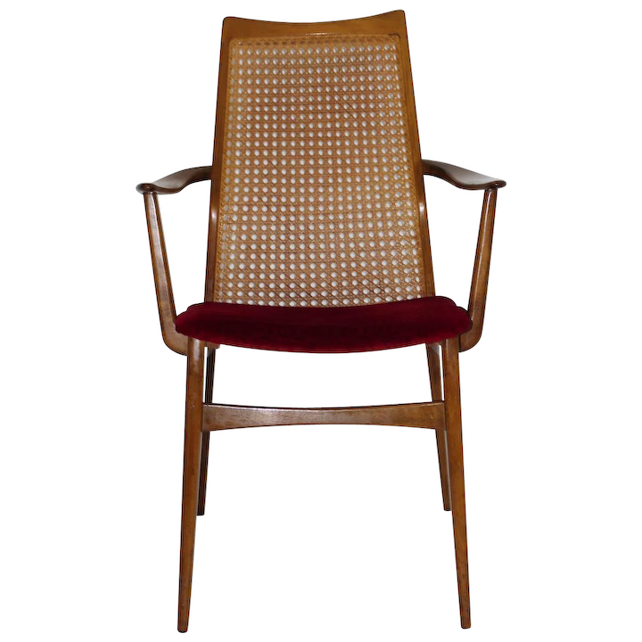 Thonet Armchair With Weave 1950s Vienna