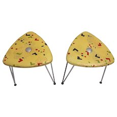 Pair of Fifties Stools by Talos 1950s Vienna
