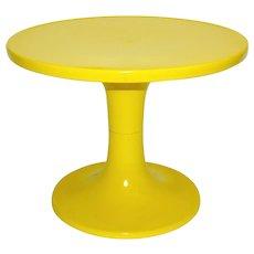 Yellow Plastic Coffee table 1960s