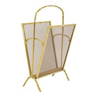 Maison Bagues Faux Bamboo Magazine Rack France 1920s