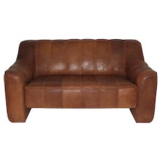 De Sede Leather Love Seat circa 1970 Switzerland