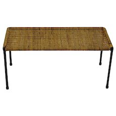 Viennese Wicker Side Table 1950s
