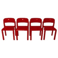 Set of 4 Stacking Chairs by Eero Aarnio 1971/72