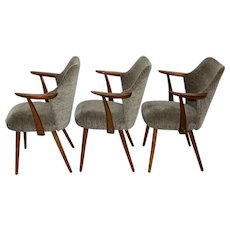 Set of Three Armchairs attr. to Oswald Haerdtl, vienna 1950s