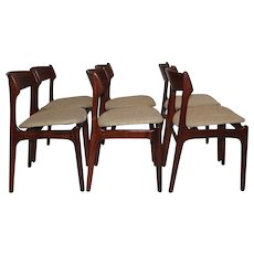 Set of Six Dining Chairs by Erik Buck Denmark 1967