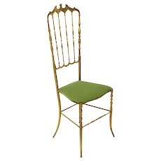 Chiavari Brass Side Chair 1950s Italy